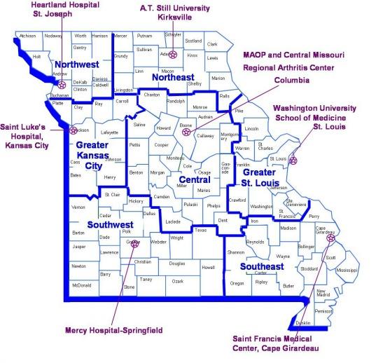 MO Arthritis - Arthritis prevalence us map